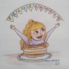 Feliz cumple!!!! #undibujoparacadadía #86 #felizcumpleaños #happybirthday #illustration #design #art #sketchbook #doodle #watercolor #drawing #inktober #artist #ink