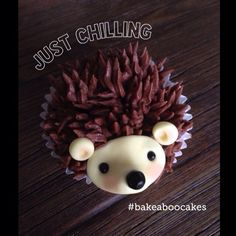 Hedgehog Cupcake