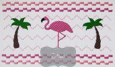 Flamingo Faux Smocking Embroidery Design