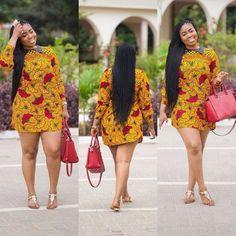 African Classy Dress ~African fashion, Ankara, kitenge, African women dresses, African prints, African men's fashion, Nigerian style, Ghanaian fashion ~DKK