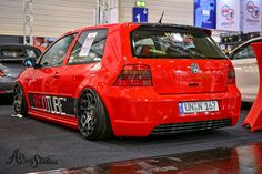 #Volkswagen #Golf_Gti #MK4 #Radi8_Wheels #Modified #Slammed #Stance #Bagged