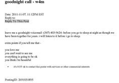 I collected voicemails from strangers on craigslist using this ad. When you pick up the phone, their messages begin to play.