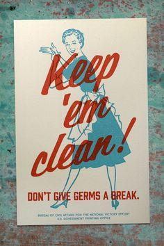 Propaganda Poster, Vintage Bathroom Decor, Wash Your Hands, Bathroom Wall Art, Fallout, WW2 Style Home Decor