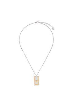 Shop Versace Medusa pendant necklace.
