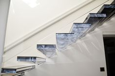 Like Walking On Diamond ... Cantilevered Staircase With Acrylic Treads  Www.sillertreppen.