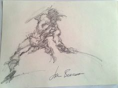 Buscema's Conan pencil poetry in motion Comic Book Artists, Comic Books Art, Conan The Conqueror, Comic Book Drawing, Warrior Drawing, John Buscema, Conan The Barbarian, Cool Sketches, Book Illustration