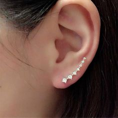 Bestpriceam 1Pair Rhinestone Crystal Earrings Ear Hook Stud Jewelry (Sliver) -- Insider's special review you can't miss. Read more  : Beauty products 99 cent