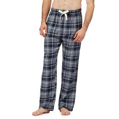 RJR.John Rocha Navy Checked Pyjama Bottom Navy L TD180 RR 06  fashion   clothing  shoes  accessories  mensclothing  sleepwearrobes (ebay link) afd7643ba
