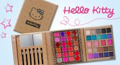 Give your pretty princess her first cosmetic kit. Save on this cute Hello Kitty make-up palette containing 24 super shiny lip glosses, 20 pretty eye shadows, four blushers, six brushes PLUS a mirror Cosmetic Kit, Eye Shadows, Blusher, Pretty Eyes, Makeup Palette, Family Kids, Lip Gloss, Hello Kitty, Hair Makeup