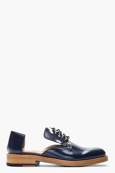I like the idea of these  MARC JACOBS Navy Transparent-Paneled Patent Leather Reveal Derbys