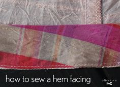 How to sew a hem facing