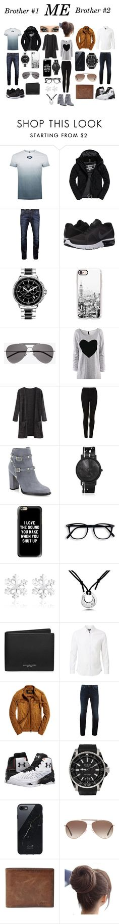 """""""My Brother Forced Me To Make This Set😥😥"""" by chanchalbijarnia ❤ liked on Polyvore featuring Armani Jeans, Superdry, Jack & Jones, NIKE, TAG Heuer, Casetify, Yves Saint Laurent, Topshop, Valentino and South Lane"""