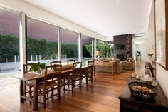 Australia Victorian house style and modern refurbishment - Dining & Living Area