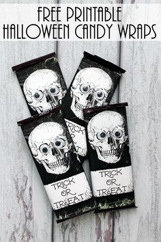 You will love these 12 cute and creepy Halloween crafts and treats to add some fun to your Halloween celebrations and parties. Halloween Candy Bar, Halloween Week, Fun Halloween Crafts, Easy Halloween Decorations, Halloween Food For Party, Creepy Halloween, Holidays Halloween, Halloween Ideas, Printable Crafts