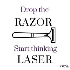Women spend 72 days of their lives shaving and men spend 45 days. It's time to #droptherazor! Schedule your Soprano Ice Laser Hair Removal treatment with us! #painfreehairfree