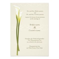 ReviewWhite Calla Lily Wedding Invitationonline after you search a lot for where to buy