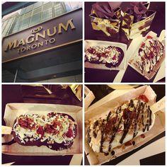 Magnum Pop-Up Shop in Toronto - design your own Magnum ice cream bar!