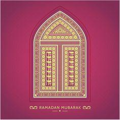 EId Mubarak & Ramadan Kareem Golden Gate With Pink Background  http://www.cgvector.com/50-vector-graphics-eid-greeting-card-and-wallpaper/