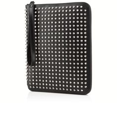 Christian Louboutin - cris tablet case - black calf leather $795.
