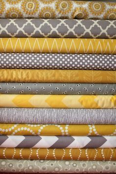mustard and grey living room colors Living Room Grey, Living Room Decor, Living Room Ideas Grey And Yellow, No Sew Curtains, Curtain Fabric, Baby Bedroom, Bedroom Yellow, Spare Room, Grey Yellow