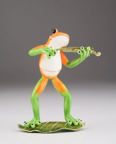 Musical Frog on a Leaf