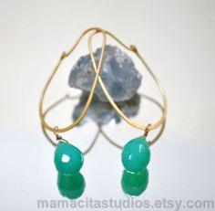 Mint Green Chrysoprase Earrings