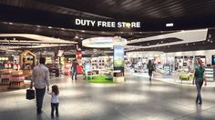 Duty free store at #Luton airport