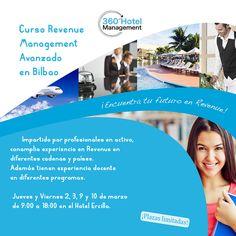 Quedan algunas plazas, pocas, para el Curso de #RevenueManagement Avanzado en Bilbao de 360 Hotel Management Toda la info, pinchando sobre la imagen.
