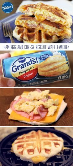 Ham Egg and Cheese Biscuit Wafflewiches are a fun and easy breakfast that's full of flavor! It's the recipe you make when you want to mix things up a bit. This easy hearty recipe is your perfect breakfast.