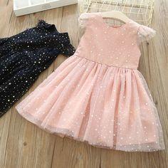 Ребенок звезды платье сетка 2018 летнее платье новые девушки дети Fly рукавом платье кв-4783-Таобао