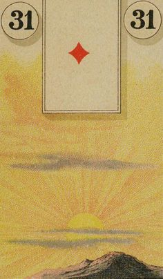 31 The Sun - The Lenormand Oracle by Marie Anne Adelaide Lenormand