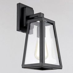 Antique matte glass black lantern outdoor wall sconce light bathroom antique matte black lantern indooroutdoor wall sconce lighting lamp aloadofball Images