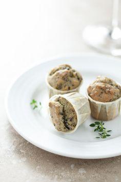 Mini Olive Thyme Muffins on gourmandeinthekitchen.com (Gluten Free, Grain Free, Nut Free, Paleo)