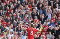 Anfield's favourite son, Steven Gerrard.  LFC v nEverton 1-0