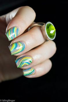 Freehand Marble - Nail Art
