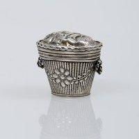 Antiek zilveren lodereindoosje