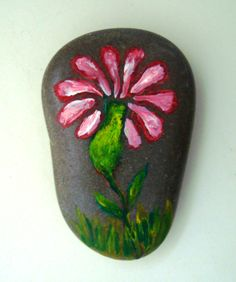 Sümbül! Painted stone!