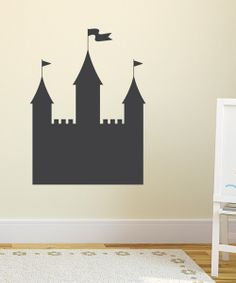 { oooh this might break up the pink walls in little bitty's room! } Castle Chalkboard Wall Decal | Daily deals for moms, babies and kids