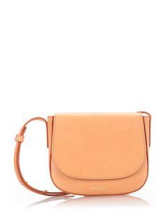 0cf55115ad MANSUR GAVRIEL Camel Leather  Mini Crossbody  Bag.  mansurgavriel  bags  shoulder  bags  leather  lining  crossbody  cotton