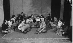 Image result for gamelan group photo black and white Group Photos, Photo Black, Black And White, Painting, Image, Art, Art Background, Group Shots, Black White