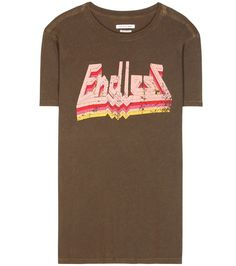 """Isabel Marant, Étoile - Étoile Dewel printed cotton T-Shirt - Make a scene – or better, be the scene – with Isabel Marant, Étoile's printed Dewel T-Shirt. Crafted from soft cotton, the shirt reads """"Endless"""" in a multicoloured, urban-inspired font. Wear over black leather trousers for low-key cool. seen @ www.mytheresa.com"""
