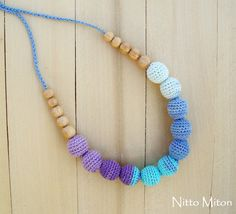 Crochet Nursing necklace Teething necklace for Moms by NittoMiton