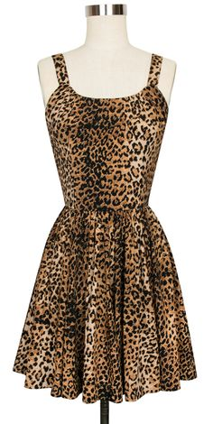 Timelessly stylish and elegant, Trashy Diva's 1940s and 1950s inspired Leopard Collection is making its debut in our luxurious rayon crepe de chine in new and classic styles. The Annette Dress is the perfect combination of flirty, fun, and classic in our favorite animal print. This original design marries the detailing of a late 1950s dress with the simplicity of a modern style. The bodice features a lightly gathered rounded neckline and wide straps. The 8 gore gathered skirt hits above the…