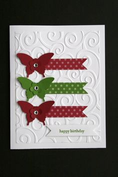 """Card Kit Elegant Butterflies """"Teeny Tiny Wishes"""" All Occasion w Stampin Up Prod 