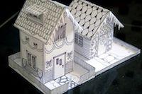MeinLilaPark: free printable DIY paper houses ♥ – free lantern houses, gingerbread houses, box houses, ornament houses – ausdruckbare Papierhäuser