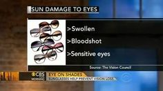 Sunglasses important for eye health