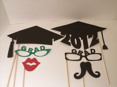 Photo Booth Props! #DIY #Graduation