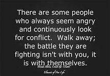 I need to remember this for the next time that bitter person in my life chooses to attack me.  I wish I could walk away for good.