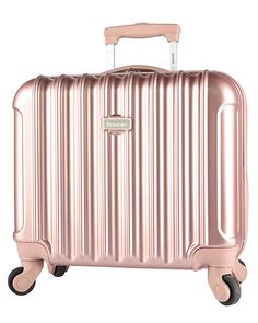 8afb478475d1 kensie 16-Inch Rolling Briefcase - Rose Gold