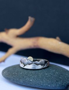 Mountain Ring Mini Sterling Silver Mountains Ring by OneIndigoMoon